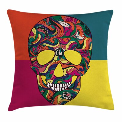Sugar Skull Calavera Square Pillow Cover Size: 20 x 20