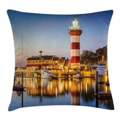 Hilton Head Boats Square Pillow Cover Size: 16 x 16