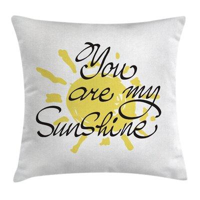 Valentines Sun Romance Square Pillow Cover Size: 16 x 16