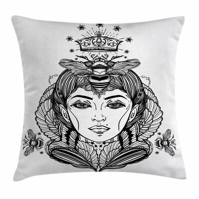 Folk Fantasy Goddess Art Square Pillow Cover Size: 24 x 24