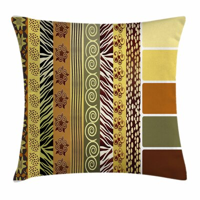 Vintage Mixed African Square Pillow Cover Size: 24