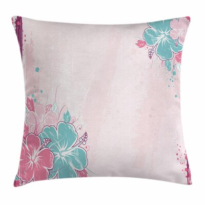 Bouquet of Hibiscus Art Square Pillow Cover Size: 16 x 16