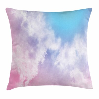 Pastel Fantasy Mystic Sky Fog Square Pillow Cover Size: 16 x 16