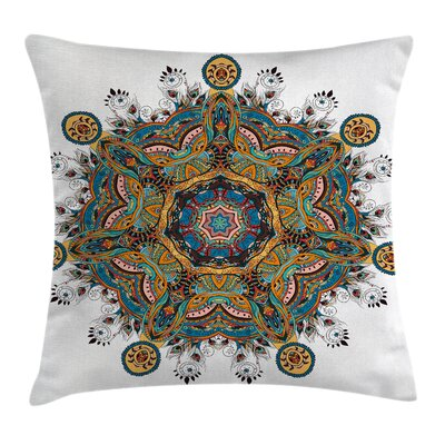 Mandala Tribal Paisley Boho Art Square Pillow Cover Size: 20 x 20