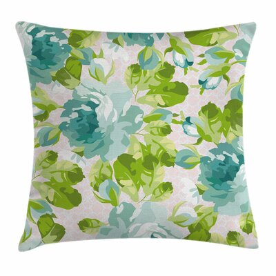 Shabby Elegance Decor Tropic Garden Square Pillow Cover Size: 16 x 16