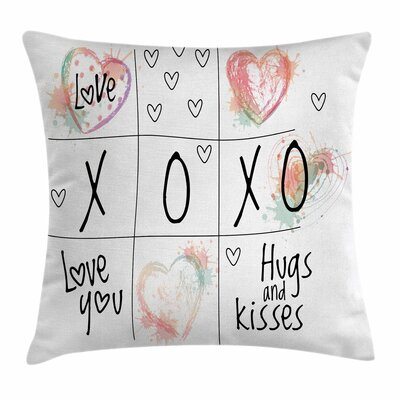 Xo Decor Heart Icon Square Pillow Cover Size: 24 x 24