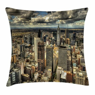 Melbourne City Australia Square Pillow Cover Size: 18 x 18