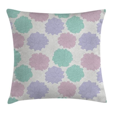 Floral Exquisite Retro Flowers Square Pillow Cover Size: 24 x 24