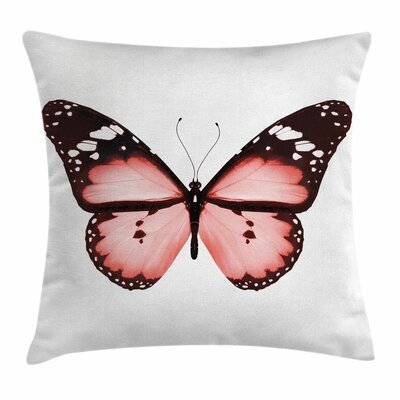 Butterfly Valentines Square Pillow Cover Size: 24 x 24