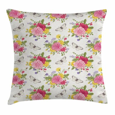 Shabby Elegance Decor Botany Garden Square Pillow Cover Size: 18 x 18