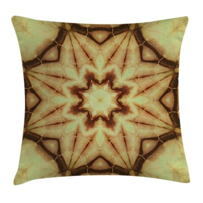 Mandala Grunge Ethnic Square Pillow Cover Size: 16 x 16