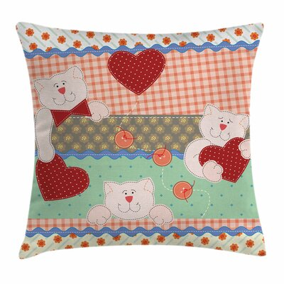 Shabby Elegance Decor Teddy Bears Square Pillow Cover Size: 16 x 16