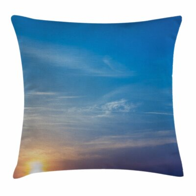 Blurry Sunrise Square Pillow Cover Size: 16 x 16