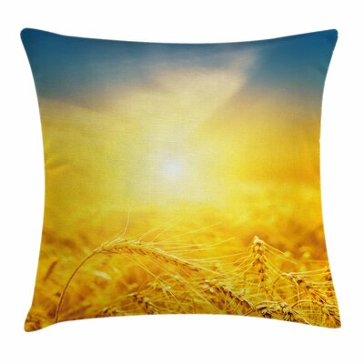 Harvest Wheat Square Pillow Cover Size: 18 x 18