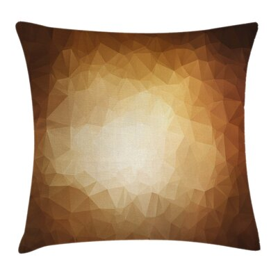 Triangles Mosaic Square Pillow Cover Size: 16 x 16