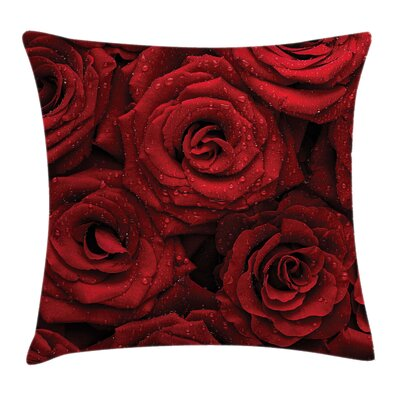 Rose Garden Square Pillow Cover Size: 16 x 16