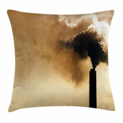 Heavy Smoke Square Pillow Cover Size: 24 x 24