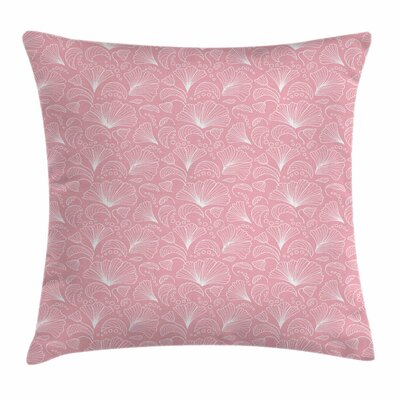 Ornate Floral Lines Square Pillow Cover Size: 16 x 16