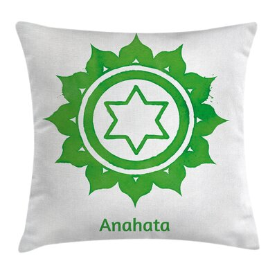 Chakra Asian Meditation Square Pillow Cover Size: 16 x 16