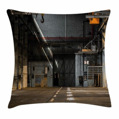 Dark Interior Square Pillow Cover Size: 16 x 16