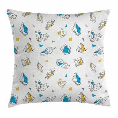 Abstract Geometrical Figures Square Pillow Cover Size: 20 x 20