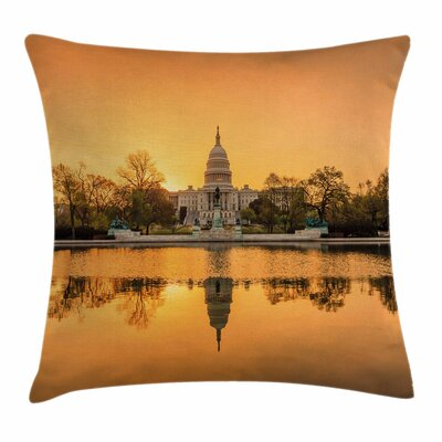 United States Washington DC Square Pillow Cover Size: 18 x 18