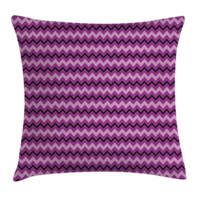 Teen Room Decor Zigzag Motif Square Pillow Cover Size: 18 x 18