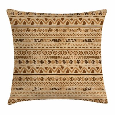 Ethnic Ancient Square Pillow Cover Size: 18 x 18