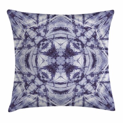 Ombre Modern Artsy Bohemian Square Pillow Cover Size: 18 x 18