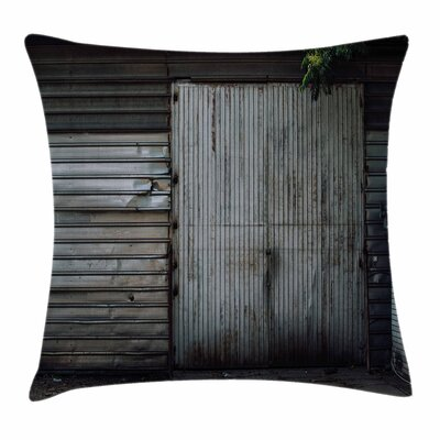 Zinc Door Old Square Pillow Cover Size: 16 x 16