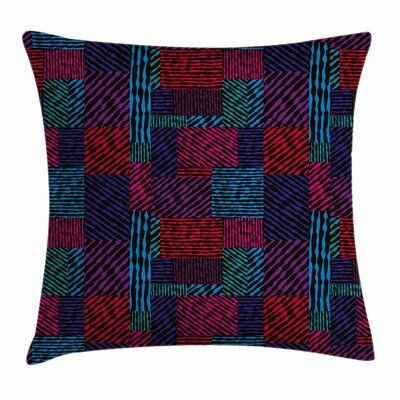Trippy Modern Wavy Square Pillow Cover Size: 24 x 24