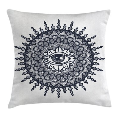 Fabric Traditional Mandala Art Square Pillow Cover Size: 20 x 20