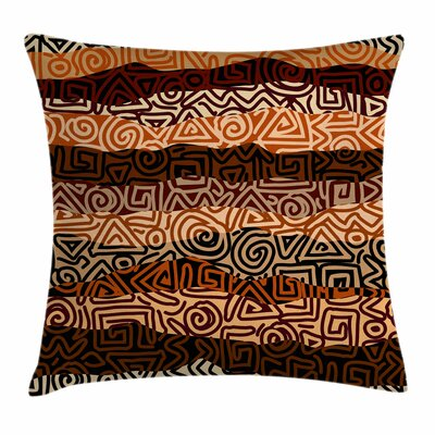 Ethnic Strikes Pattern Square Pillow Cover Size: 20 x 20