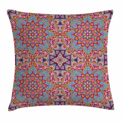 Mandala Hippie Authentic Square Pillow Cover Size: 18 x 18