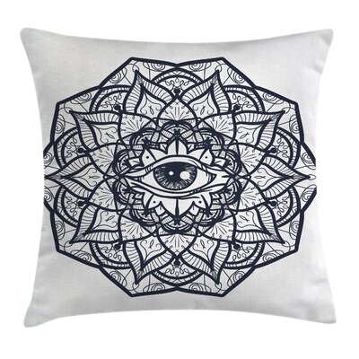 Ethnic Mandala Tribal Square Pillow Cover Size: 18