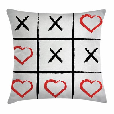 Xo Decor Humor Hobby Symbols Square Pillow Cover Size: 18 x 18