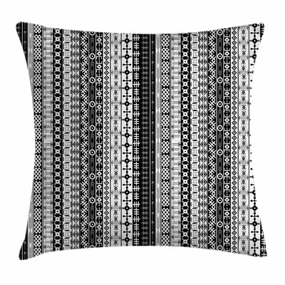 African Tribal Square Pillow Cover Size: 24 x 24