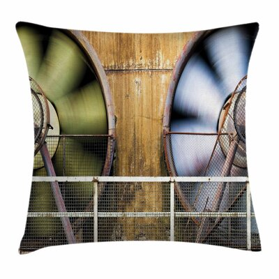 Moving Fans Square Pillow Cover Size: 18 x 18