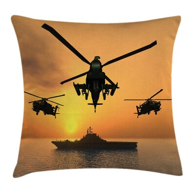 Aircraft Helicopter Square Pillow Cover Size: 16 x 16