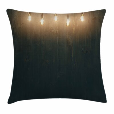 Wooden Room Square Pillow Cover Size: 16 x 16