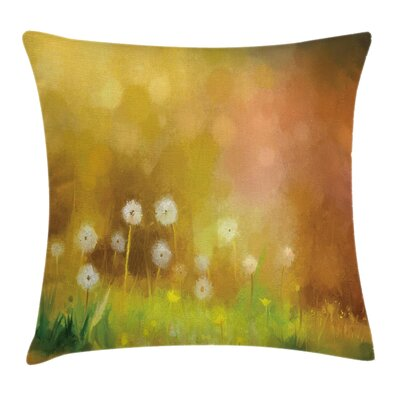 Nature Oil Painting Effect Art Square Pillow Cover Size: 16 x 16