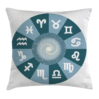 Astrology Zodiac Universe Signs Square Pillow Cover Size: 24 x 24