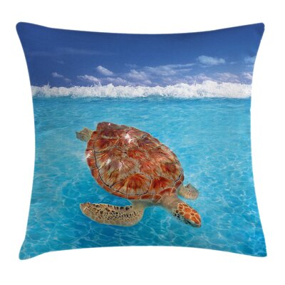 Chelonia Water Surface Square Pillow Cover Size: 24 x 24
