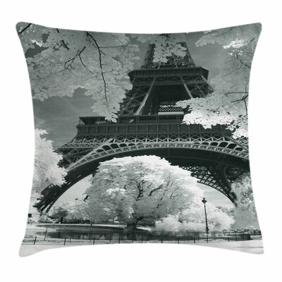 Eiffel Tower Square Pillow Cover Size: 18 x 18