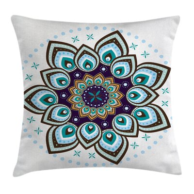 Elegant Boho Blooming Flower Square Pillow Cover Size: 20 x 20