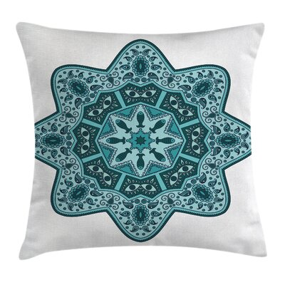 Chinese Mandala Square Pillow Cover Size: 16 x 16