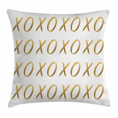 Xo Decor Affection Sincere Love Square Pillow Cover Size: 16 x 16