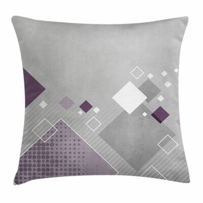 Squares Dots Square Pillow Cover Size: 18 x 18