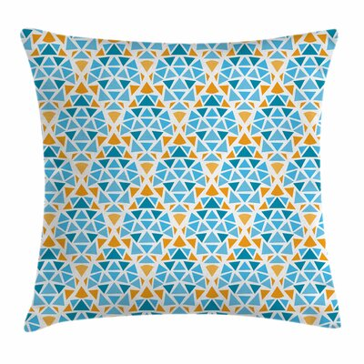 Triangle Motif Square Pillow Cover Size: 18 x 18