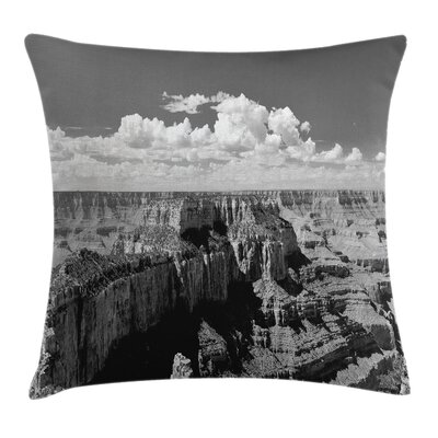 Nostalgic Grand Canyon Square Pillow Cover Size: 20 x 20